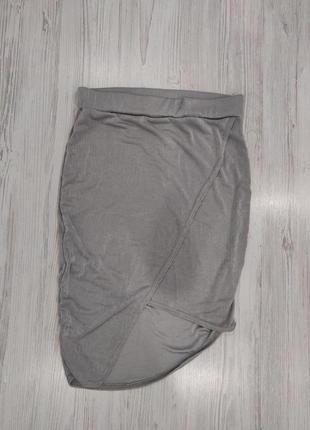 Ликвидация товара 🔥   серебристая  мини юбка на запах