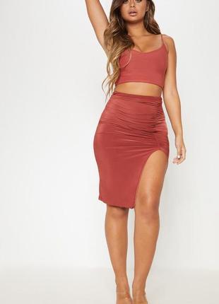 Ликвидация товара 🔥   юбка миди с присборкой по фигуре