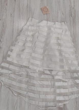 Ликвидация товара 🔥   юбка  з прозорими вставками бренд еми лунн
