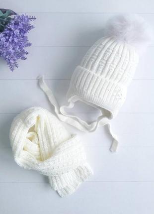 Комплект(шапка +шарф)