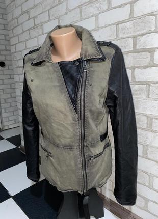 Стильная куртка/косуха ветровка  цвет хаки  бренд fb sisters