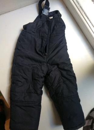 Теплые штаны, полукомбинезон