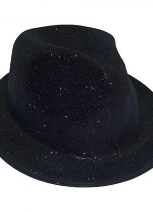 Шляпа маскарадная детская черная мафия