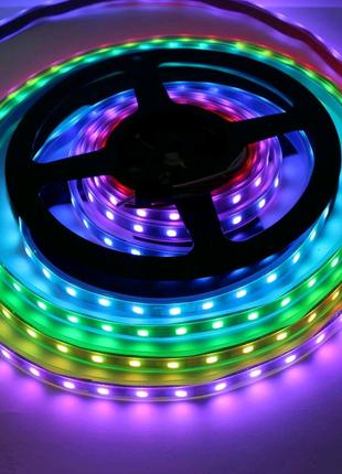 Світлодіодний RGB LED стрічка з пультом 12 220 вольт рдб діодна п