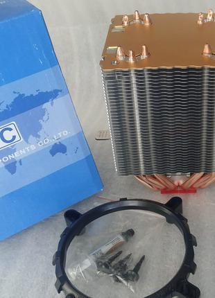 Кулер процессора башня AVC AMD/ INTEL 6 тепловых трубки ТИХИЙ!!!