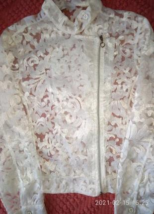 Блуза нарядная гипюр брендовая