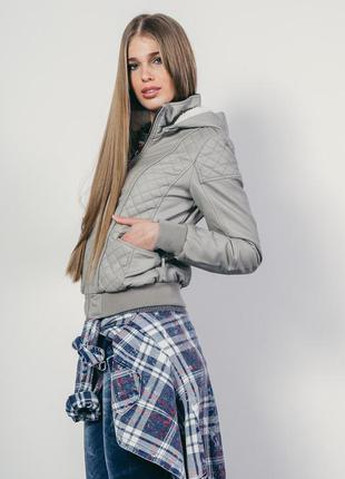 Утепленная кожаная куртка alcott l