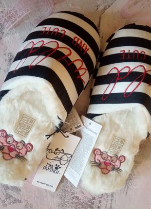 Тапочки с розовой пантерой от  Women'Secret. Размер 36-37