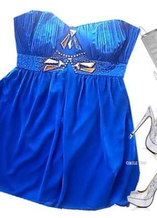 Нарядное шифоновое платье бюстье размер 48-50 бренд lipsy