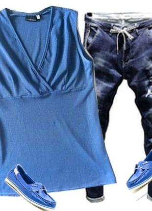 Майка туничка легкий трикотаж размер 46-48 бренд vroom&dressmann