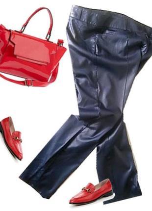 Легкие стрейчевые брюки с напылением размер 44-46