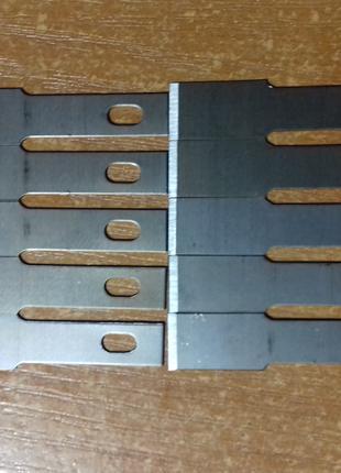 Лезвия сменные прямые для ножа.
