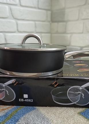 Сковорода, сотейник из нержавеющей стали Edenberg EB-4063 24см