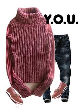 Стильный свитер рукав сетка размер 40-44