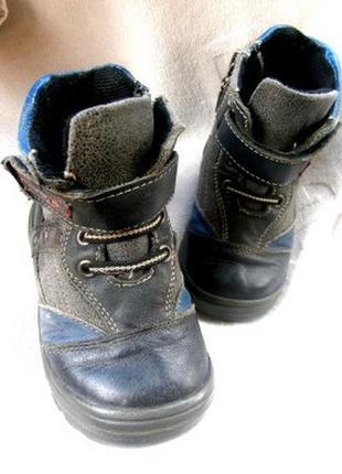 Кожанные деми ботинки размер 24