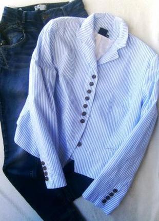 Пиджак полоска размер  50-52