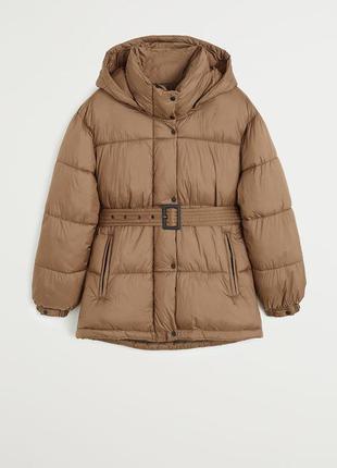 Короткий пуховик куртка с капюшоном mango zara