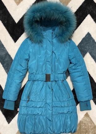 Зимнее пальто зимняя куртка тёплая 122-128 рост
