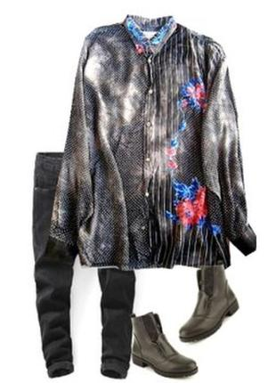 Красиапя модная рубашка большой размер 54-56