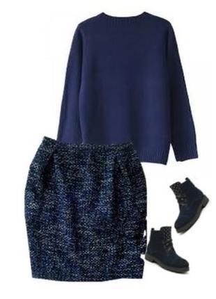 Теплая юбка букле размер 46-48