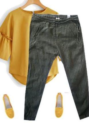 Модные брюки лен размер 44-46