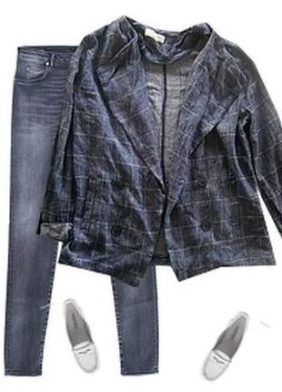 Легкий пиджак лен джинс размер 44-46