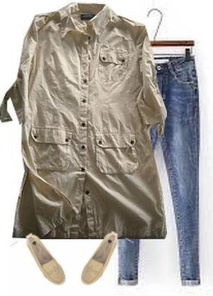 Длинная рубашка платье размер 46-48