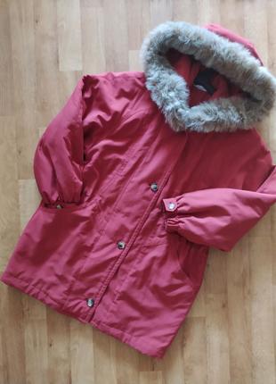 Куртка парка коралловая