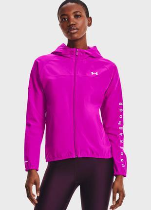 Женское розовое худи under armour woven hooded jacket