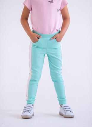Штаны для девочек мятного цвета