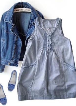 Джинсовое платье размер 44-46