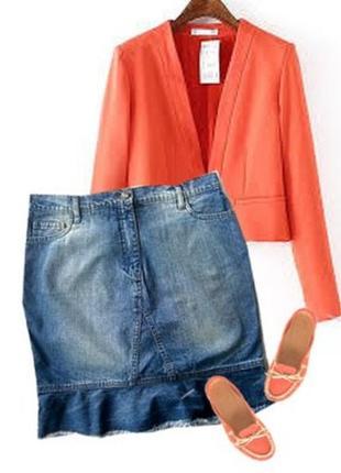 Джинсовая юбка размер 46-48