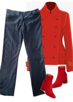 Стрейчевые брюки с напылением размер 46-48