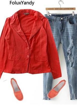 Трикотажный пиджак размер 46-48