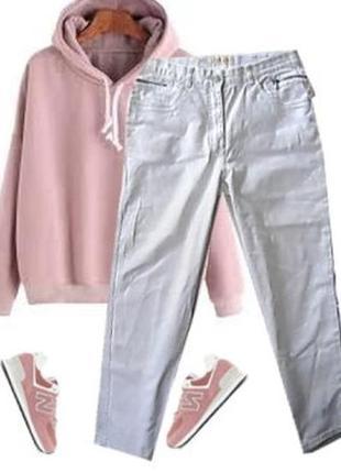 Модные джинсы с высокой посадкой размер 48-50