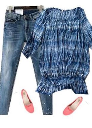 Шефоновая блуза большой размер 54-56