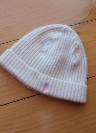 Мягкая нежная шапка шерсть кролика polo ralph lauren