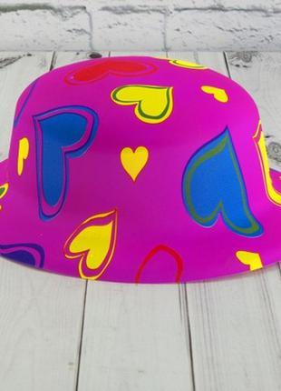 Шляпа детская маскарадная сердечки - набор 6 штук