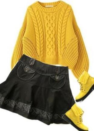 Нарядная юбка флисовый подьюбник размер 40-44