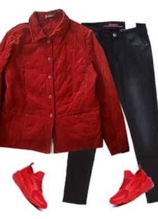 Стеганная куртка пиджак размер 48-50