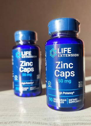 Life Extension, цинк в капсулах, высокая эффективность, 50 мг, 90