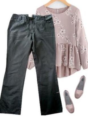 Нарядные брюки атласный катон размер 46-48