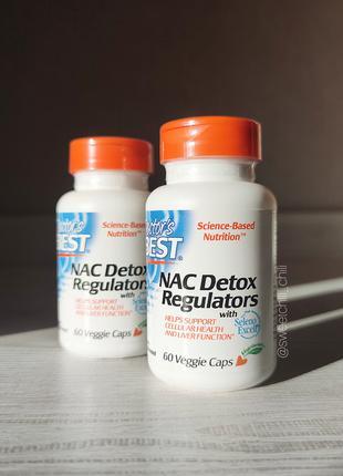 Doctor's Best, NAC регуляторы детоксикации, 60 растительных капсу