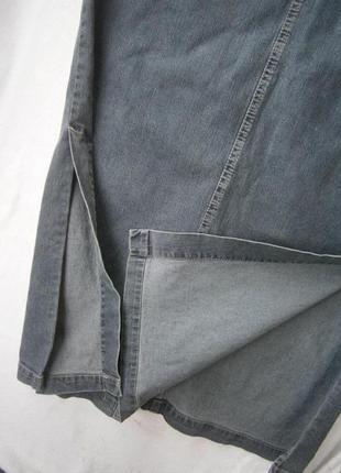Длинная джинсовая юбка размер 46-48