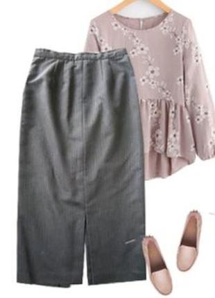Длинная классическая юбка размер 46-48