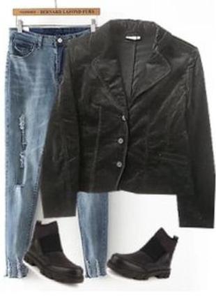 Стрейчевый бархатный пиджак размер 48-50