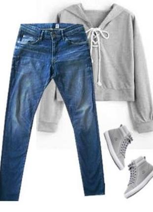 Модные джинсы с высокой посадкой размер 46-48