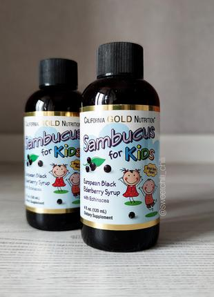 California Gold Nutrition, Бузина для детей, 120 мл