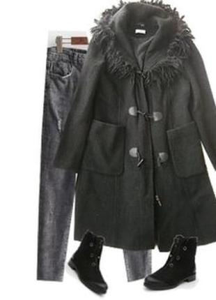 Стильное пальто размер 46-48 40% шерсть