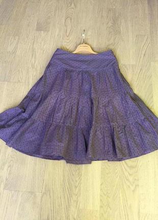 Пышная юбка из хлопка soft grey франция